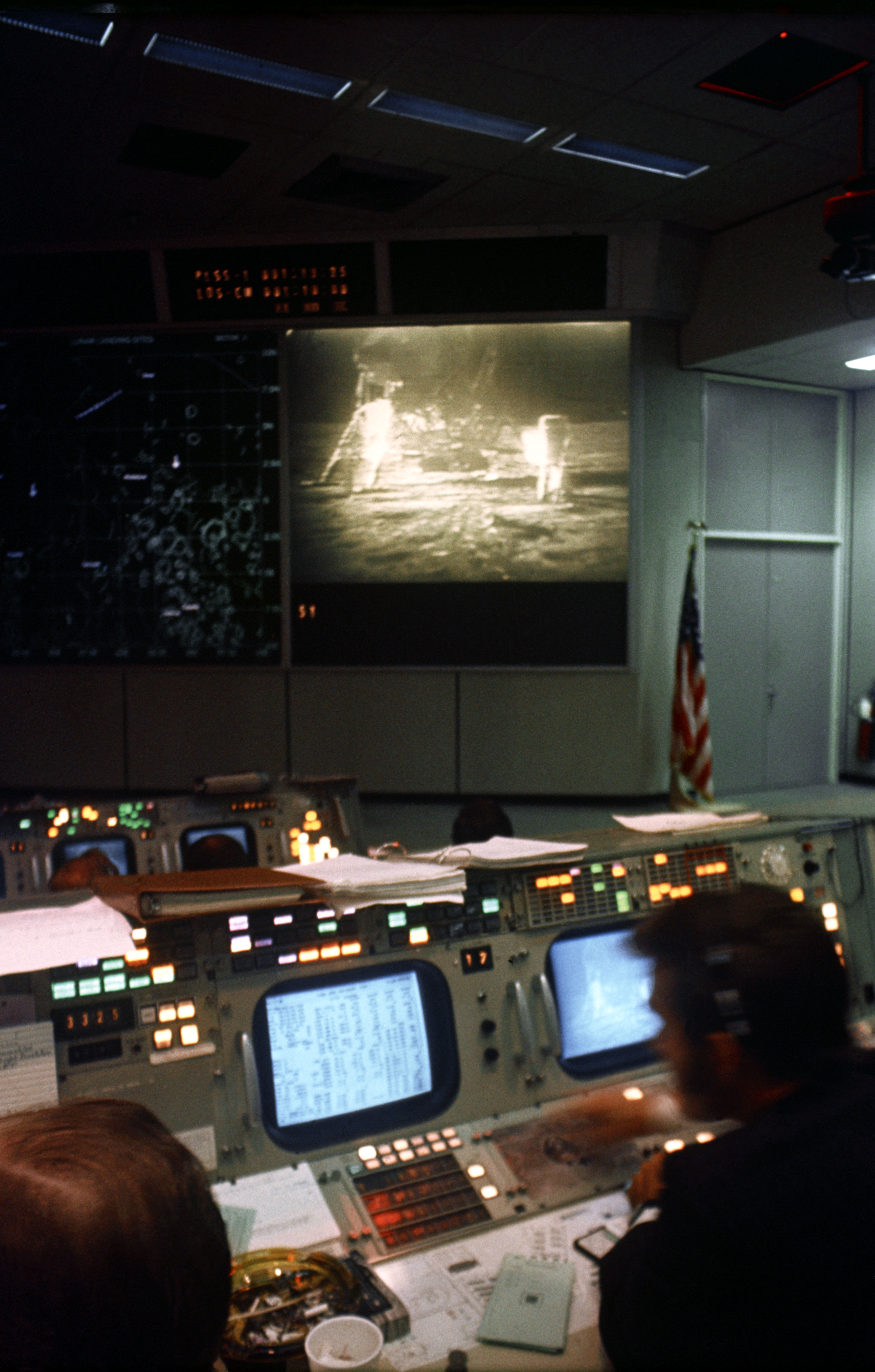 View of the Mission Operations Control Room for Apollo 11