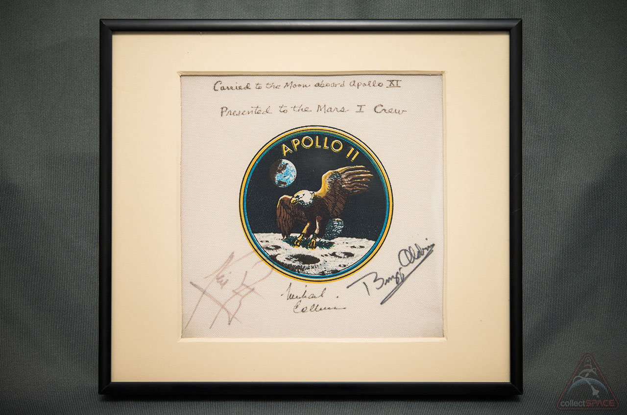Apollo 11 Patch Flown on 1st Moon Landing to Launch with Astronauts to Mars