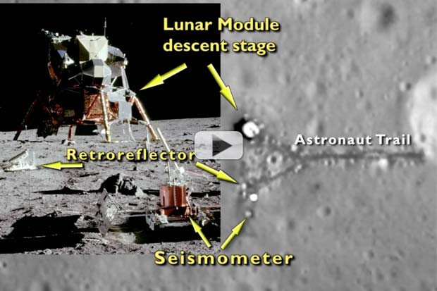 Flashback: Apollo 11 Moon Landing Site Spied By Orbiter | Video