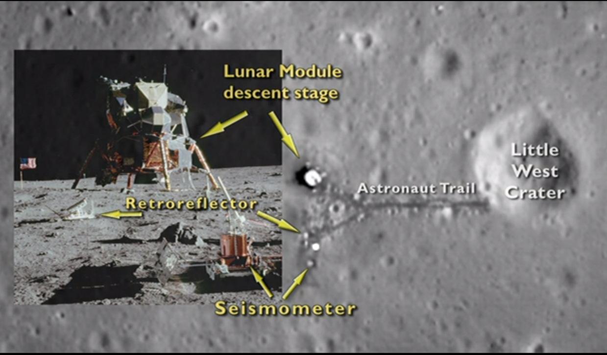 LRO View of Apollo 11 Landing Site