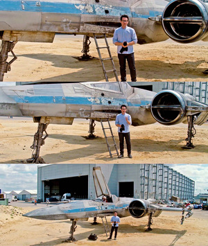 Director J.J. Abrams revealed the new design of the X-Wing starfighter in a video for UNICEF.