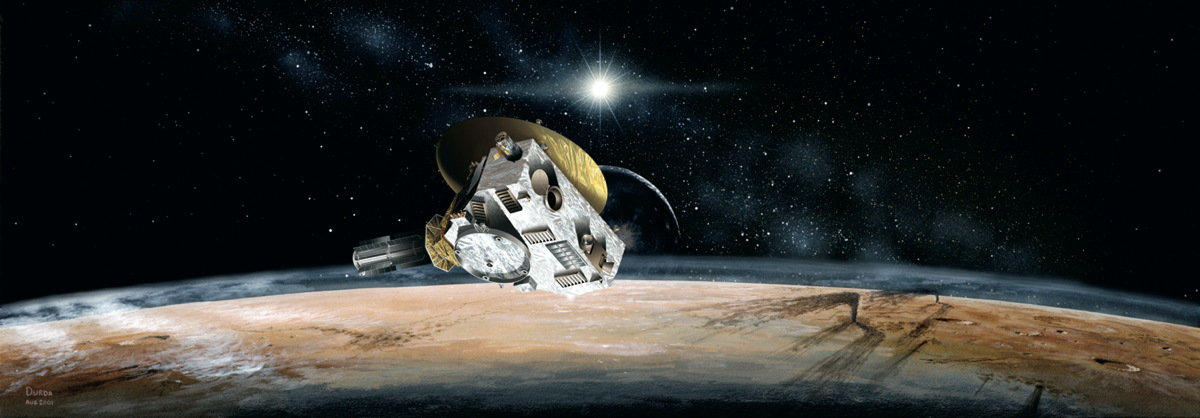 Pluto Encounter Panoramic View