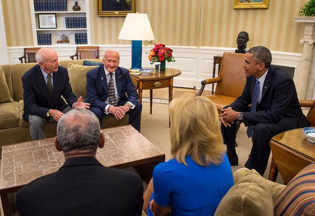 Apollo 11 Astronauts Meet Obama at White House