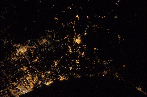 ESA astronaut Alexander Gerst posted this photo of Israel and Gaza on July 23, 2014, as seen from a window of the International Space Station.