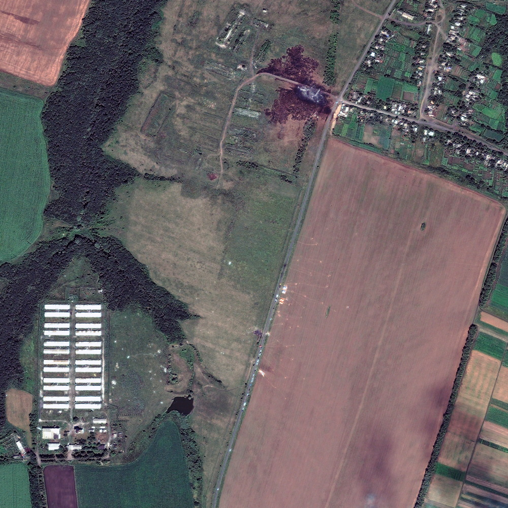 Satellites Track Malaysian Airlines MH17 Crash Site from Space