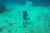 An unidentified crew member participates in a NASA Extreme Environment Mission Operations (NEEMO) mission.