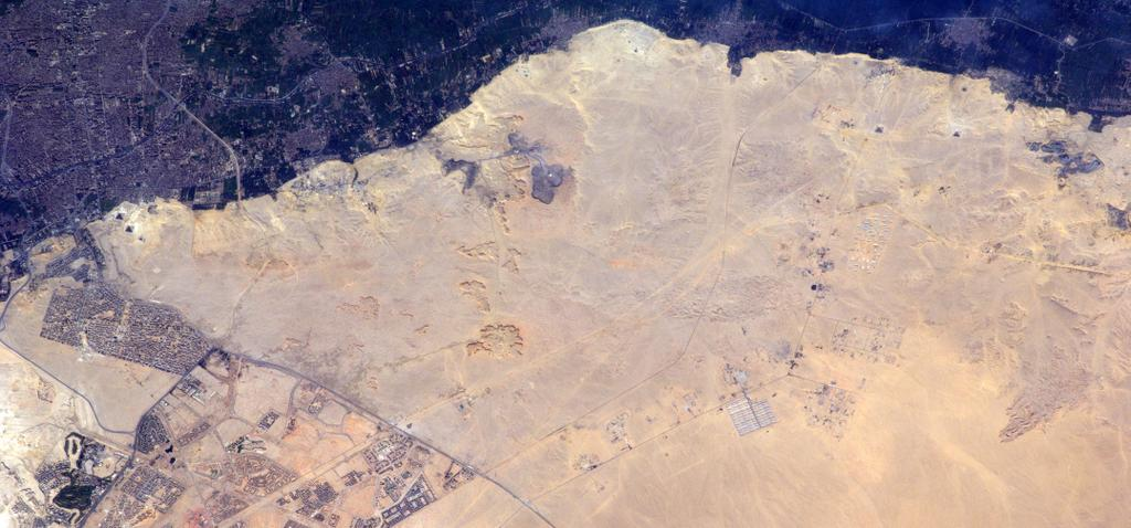 Pyramids Seen from the International Space Station
