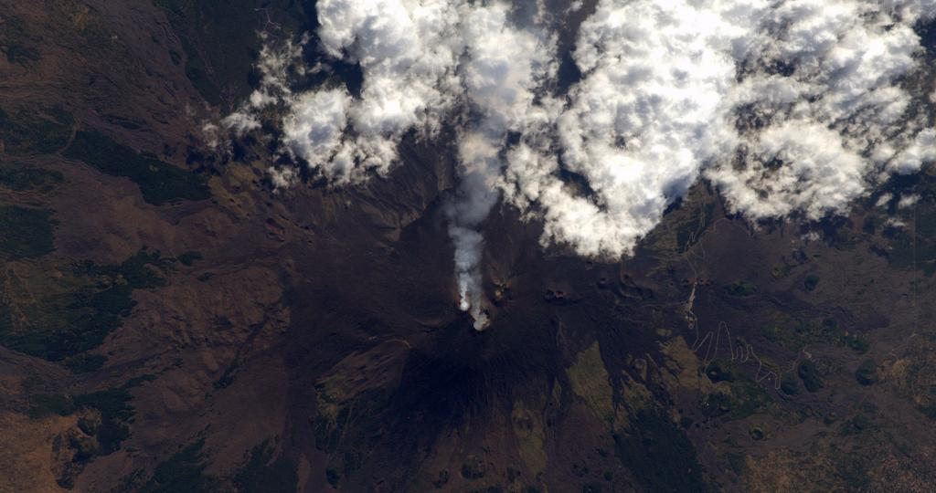 Mt. Etna Seen from the International Space Station