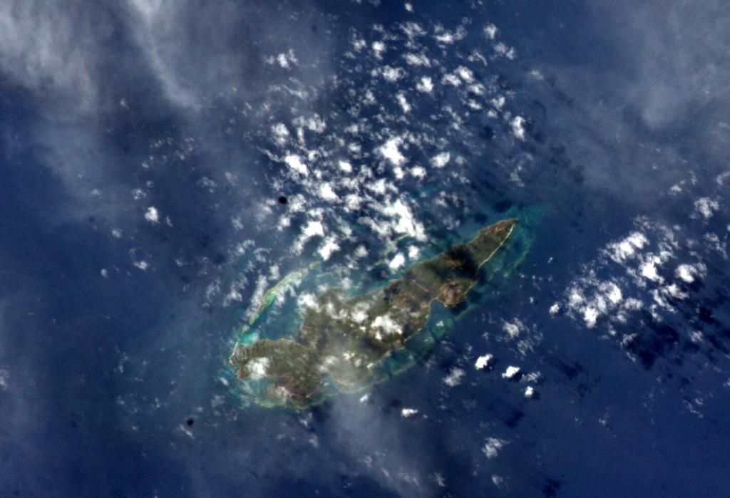 Guanaja Island Seen from the International Space Station