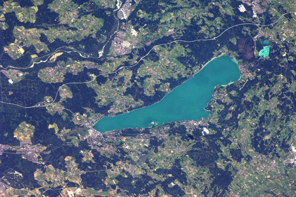 Lake Starnberg, Germany, Seen from the International Space Station