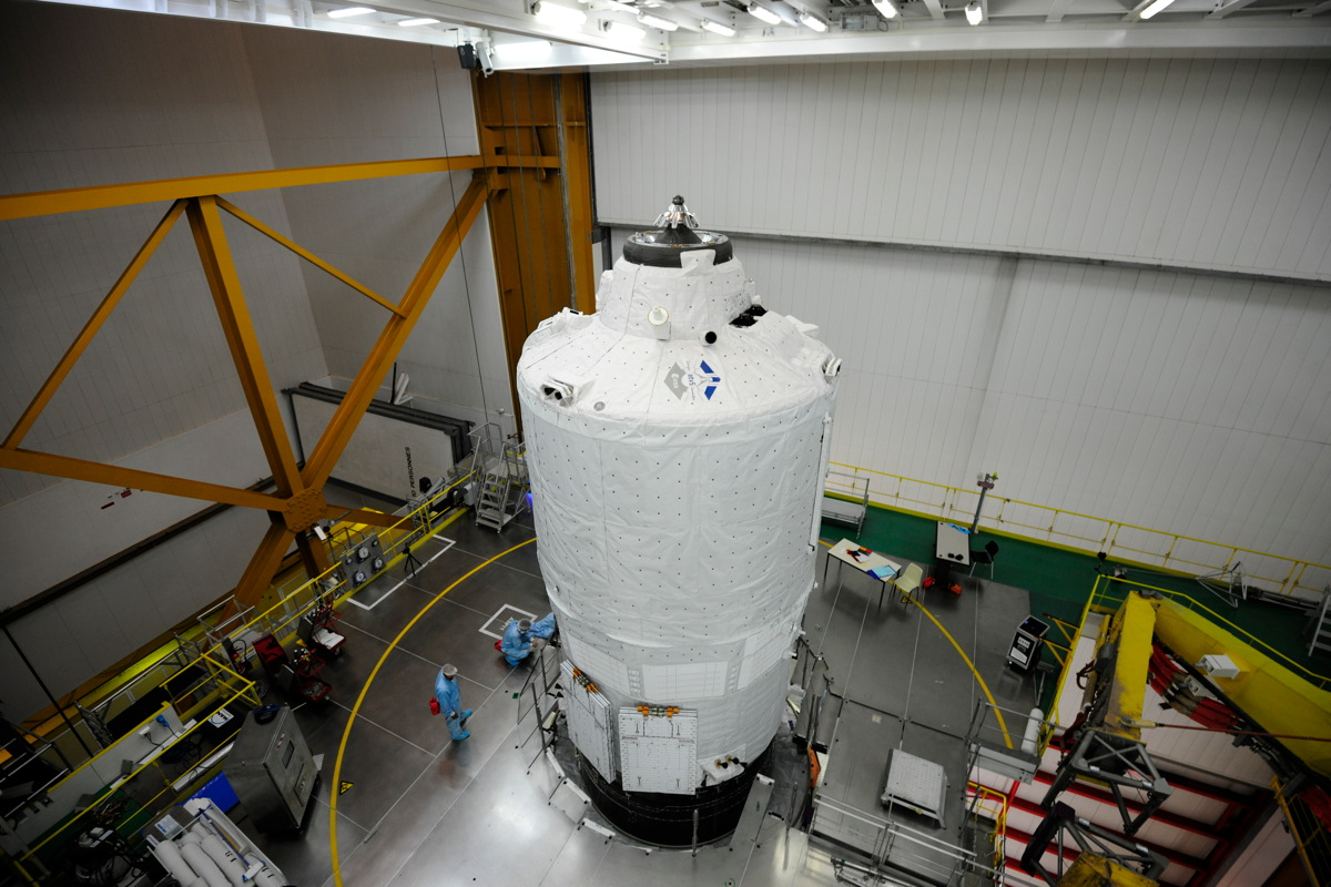 ATV-5 on Ariane 5 Prior to Encapsulation