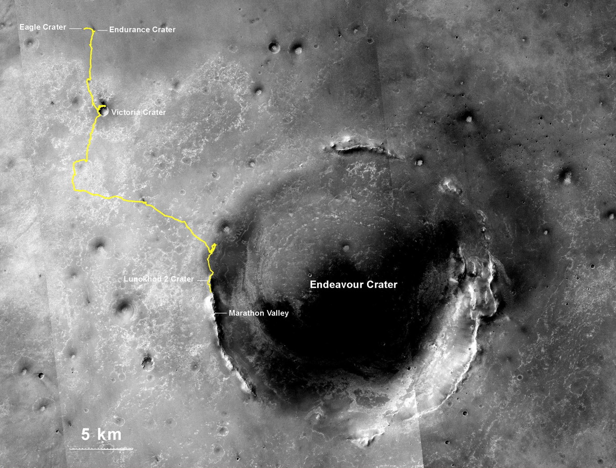 Opportunity's Journey Exceeds 25 Miles