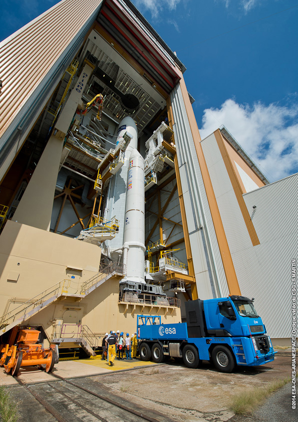 Flight VA219's Ariane 5 on Mobile Launch Table