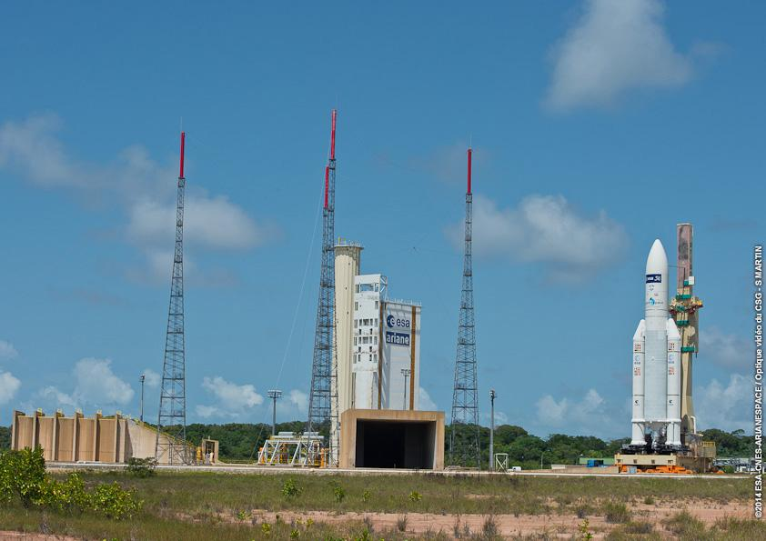 Ariane 5 Rocket Carrying ATV-5 Rollout