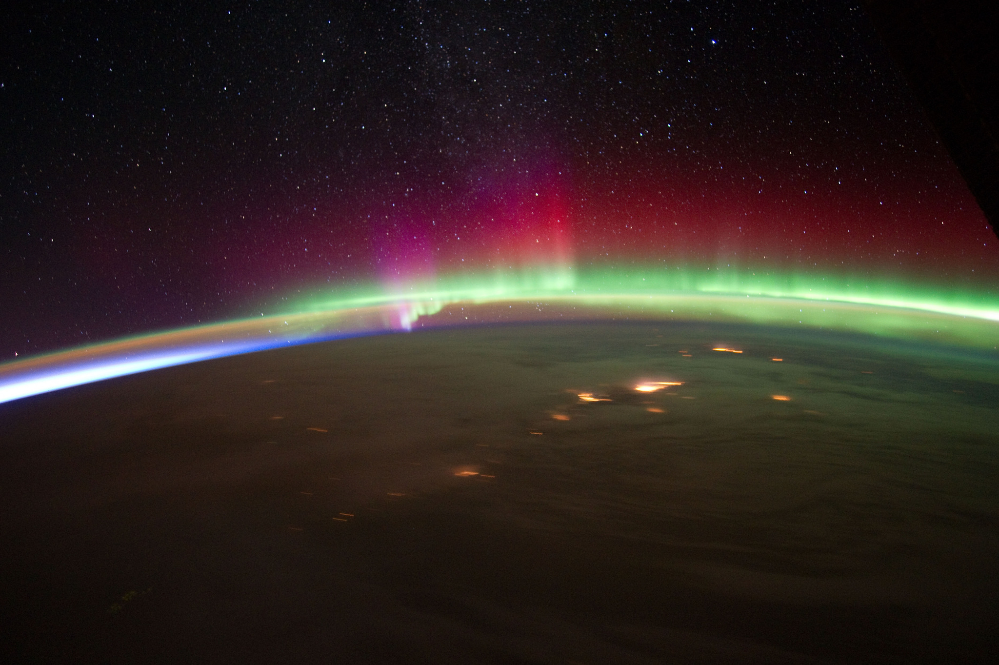 Aurora Over Alaska by Expedition 30