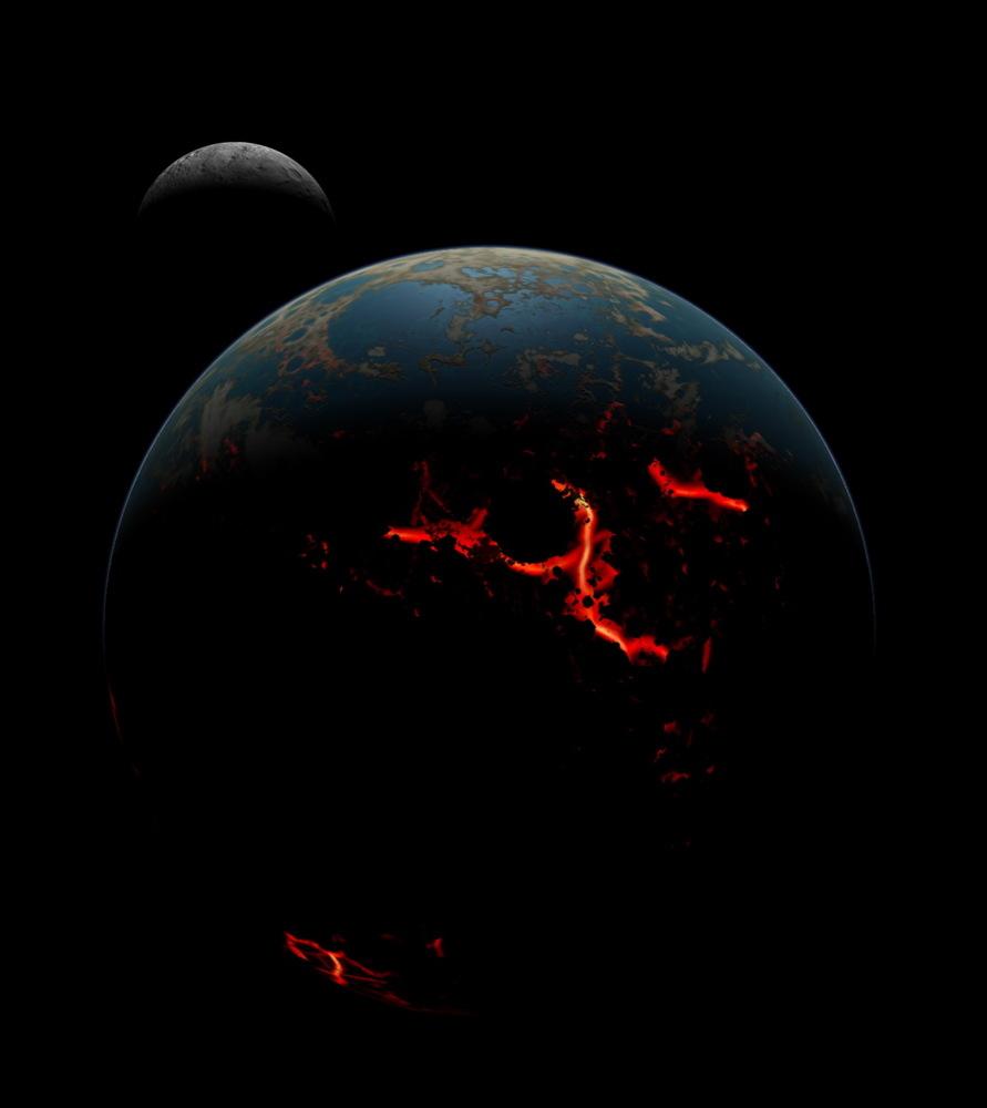 Early Earth-moon System After Bombardment