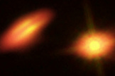 ALMA data helped scientists produce this image of the HK Tauri system.