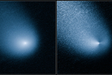 NASA's Hubble Space Telescope captured images of incoming comet Siding Spring.