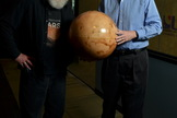 Space.com's Leonard David (left) talks Mars with Bruce Jakosky, principal investigator for the NASA Mars Atmosphere and Volatile EvolutioN (MAVEN) mission