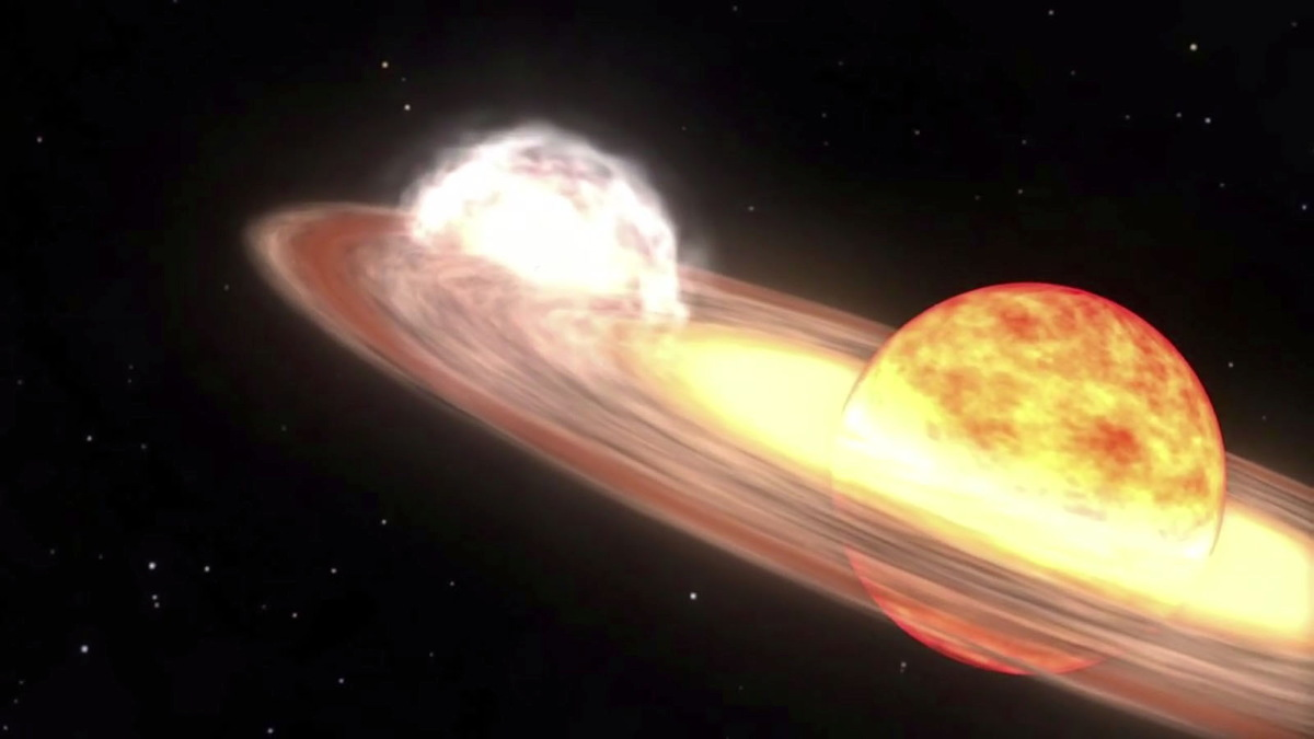 Stars Shoot Out From A Burst Gaseous Nova In Space Stock Footage ...