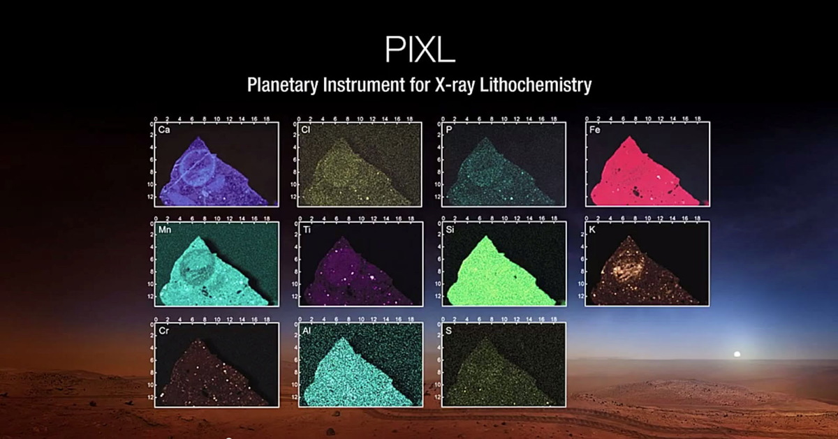 Planetary Instrument for X-ray Lithochemistry (PIXL) Views