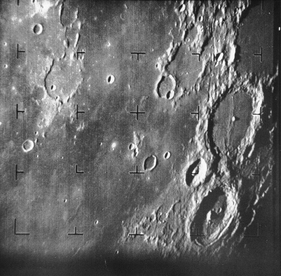 NASA's Ranger 7 captured the first close up photo of the moon in 1964.