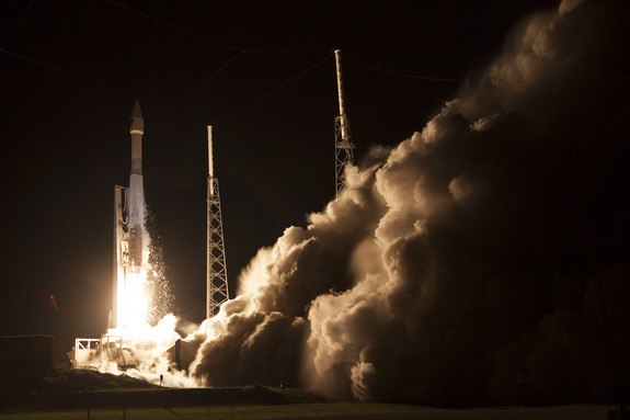 A United Launch Alliance Atlas 5 rocket launches the U.S. Air Force's GPS 2F-7 satellite into orbit on Aug. 1, 2014