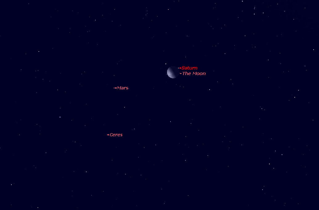 See the Moon 'Photobomb' Saturn Monday: Live Slooh Webcast
