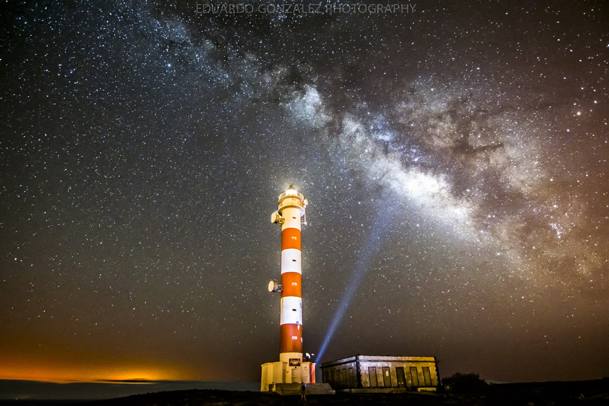 Milky Way and Lighthouse in Tenerife, The Canary Islands