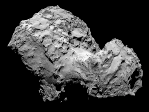 ESA's Rosetta probe snapped this image of its target, Comet 67P on Aug. 3, 2014 from a distance of 177 miles (285 kilometers).