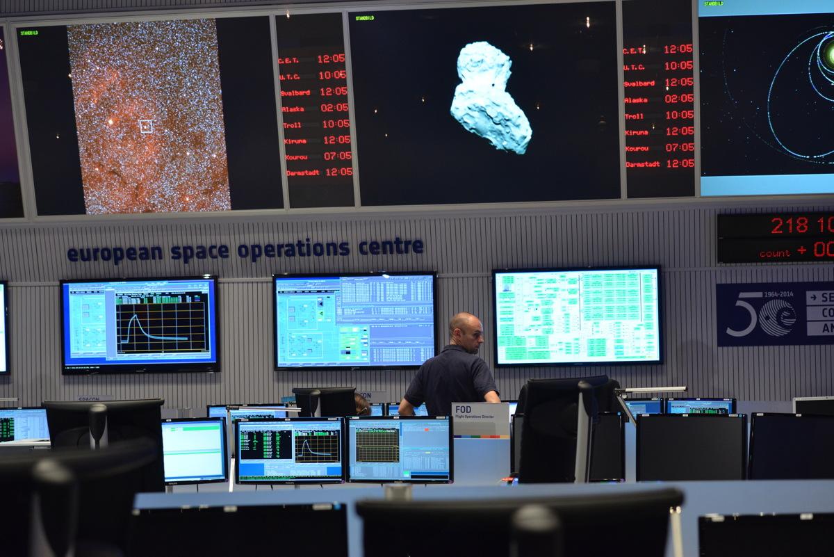 ESA's Main Control Room During Rosetta's Arrival