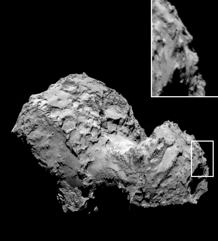 'Face' on Comet 67P