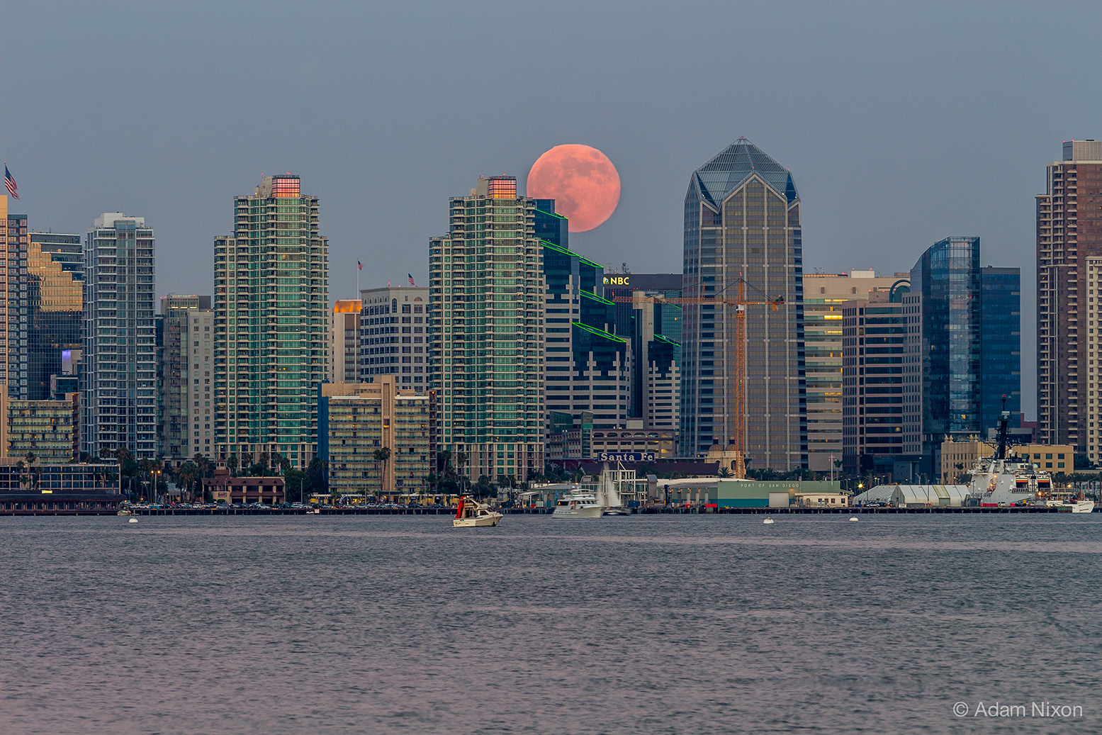 Supermoon Rising Over California