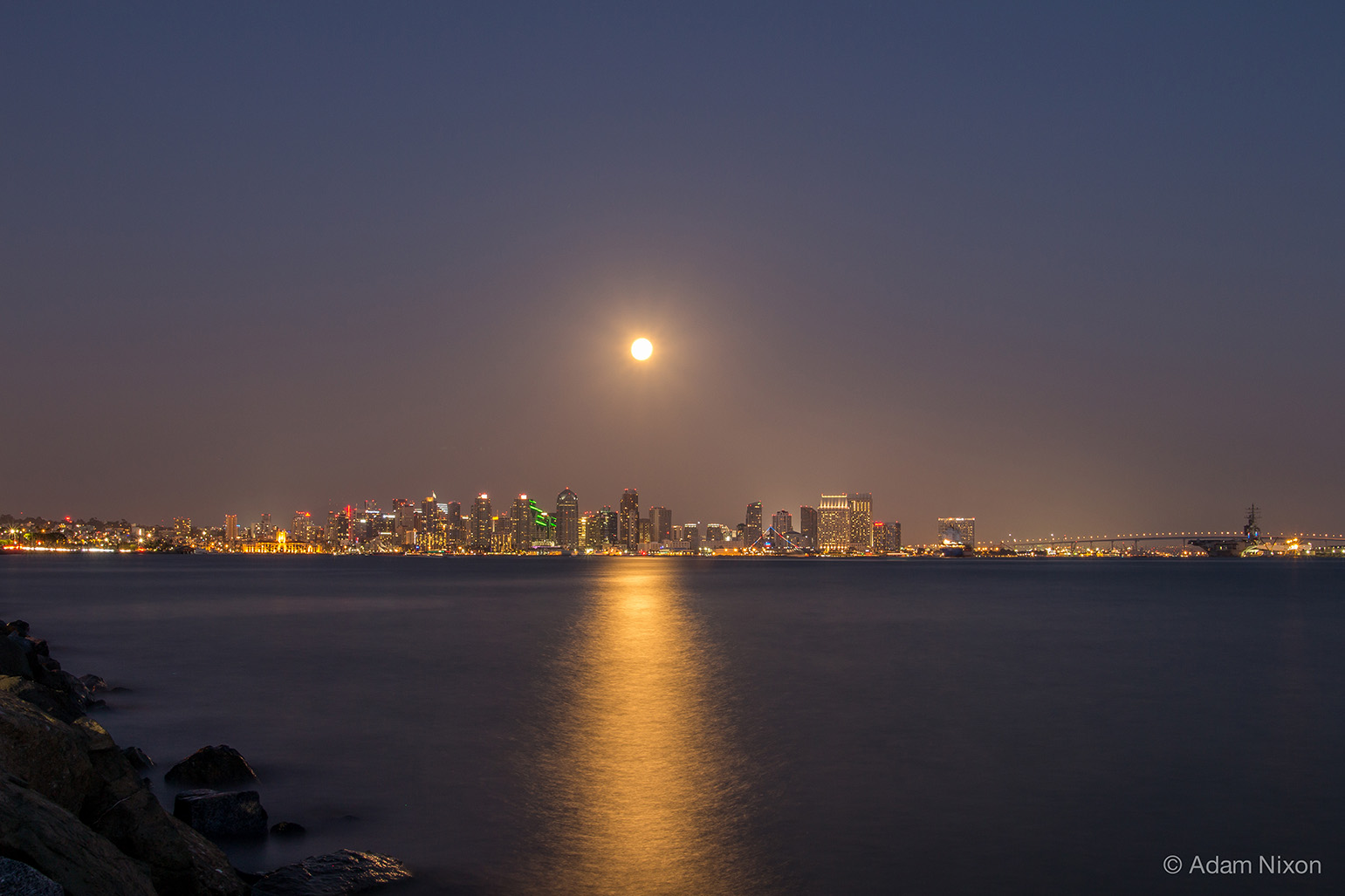 San Diego Supermoon and Harbor