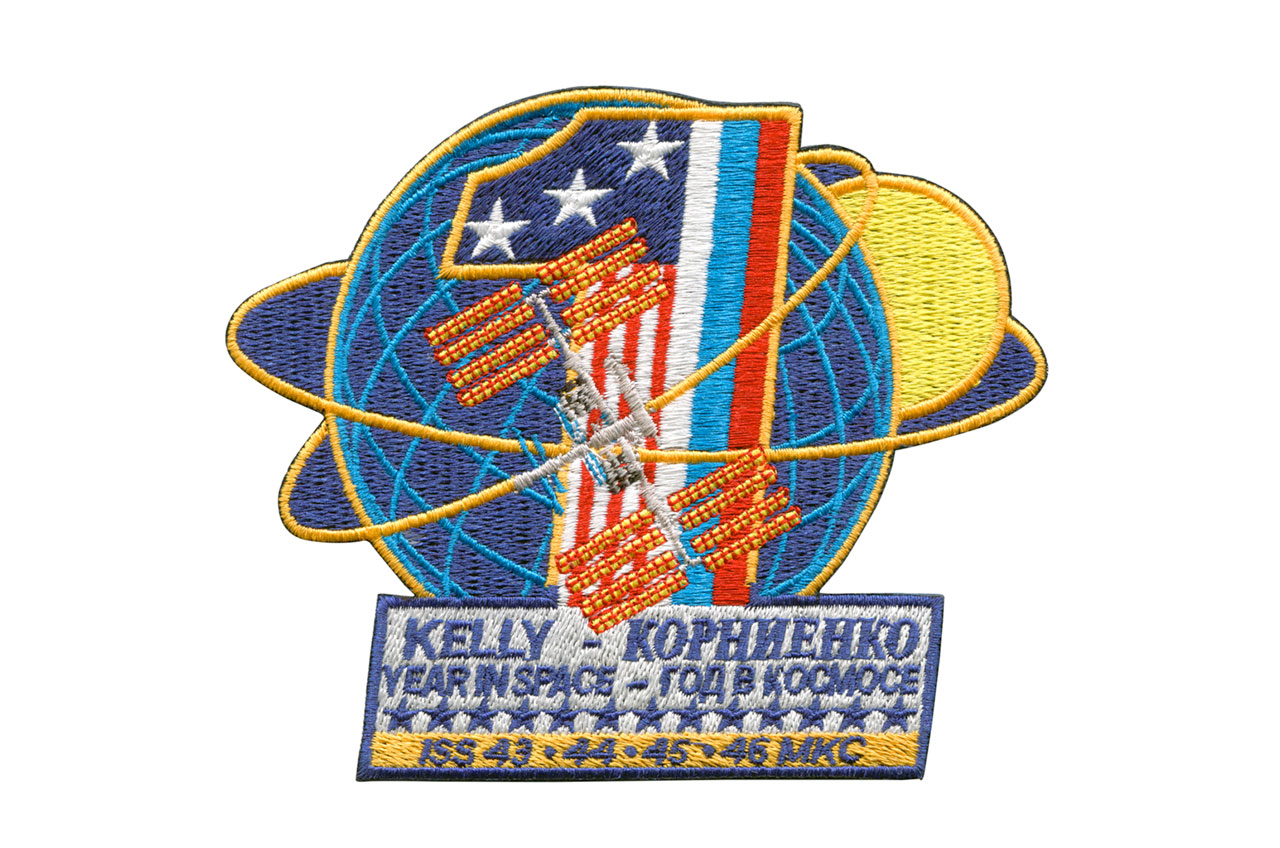 Yearlong Space Station Crew Unveils Mission Patch for 2015 Launch