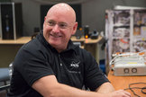 NASA astronaut Scott Kelly is pictured during a training session at NASA's Johnson Space Center in Houston, Texas.