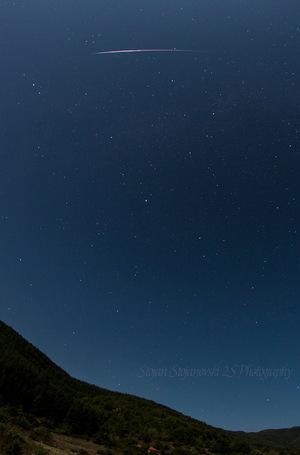 Night sky photographer Stojan Stojanovski captured this photo of a Perseid meteor from Ohrid, Macedonia on Aug. 13, 2014.