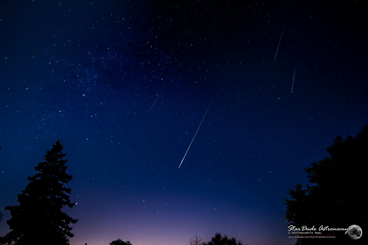 2014 Perseid Meteors Over Mt. Palomar