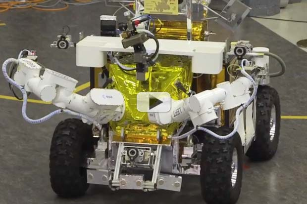 Space Station Astronaut Controls Rover On Earth   Video