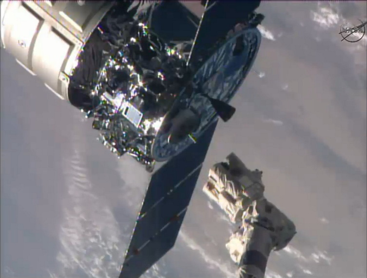 Private Cygnus Cargo Ship Leaves Space Station for Oblivion