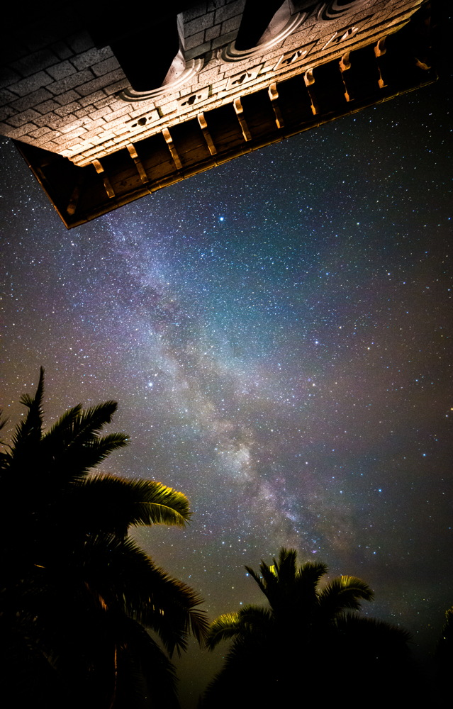 Milky Way Seen from a Terrace in Hvar, Croatia