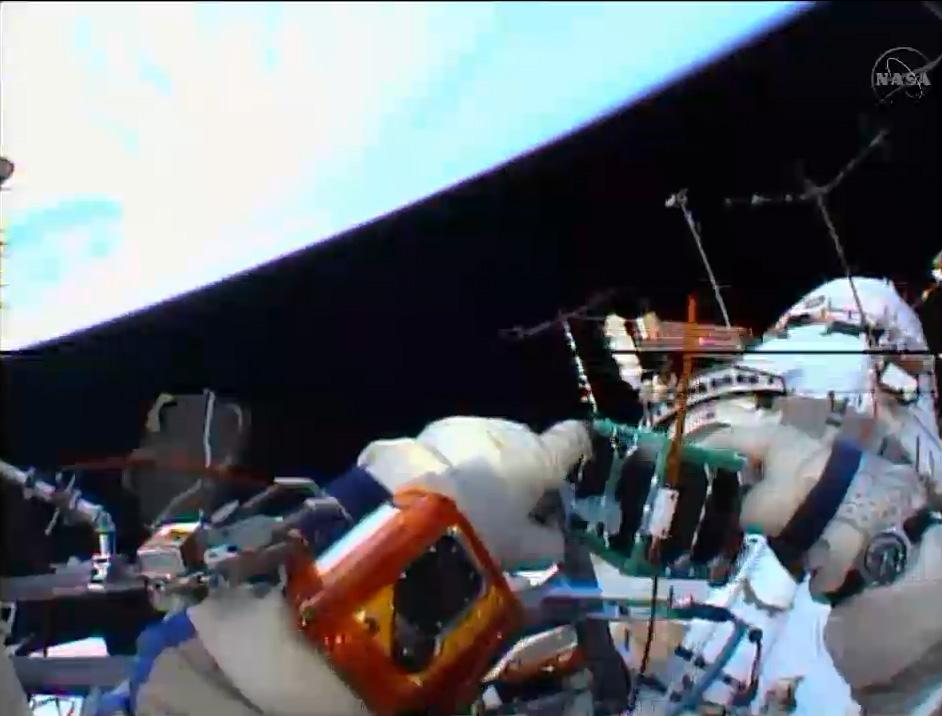 Spacewalking Cosmonaut Tosses Tiny Satellite Into Space for Peru