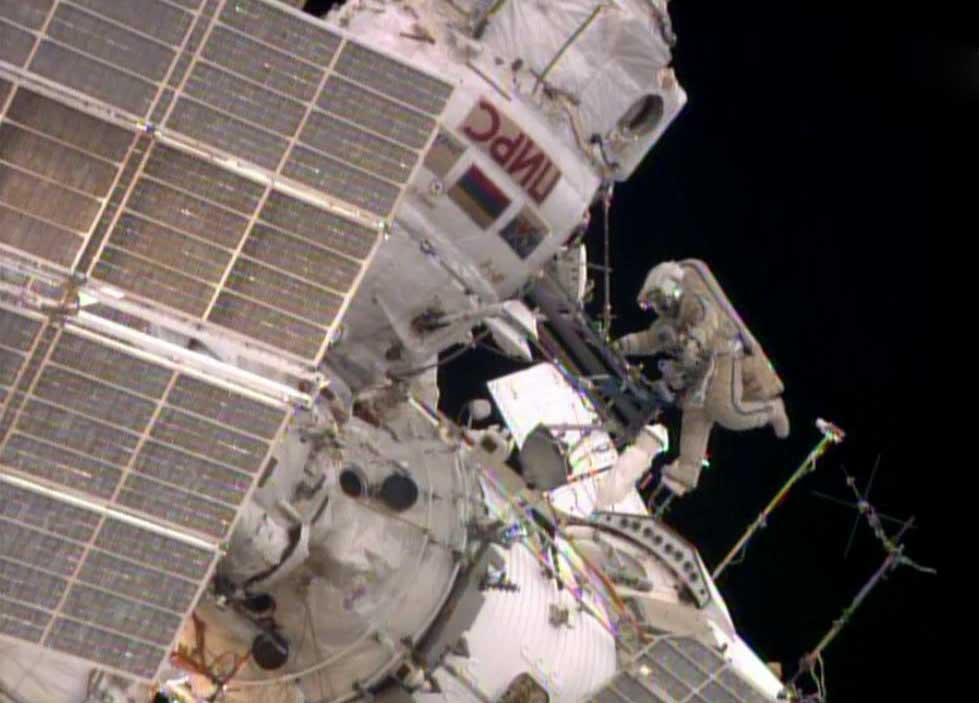 Oleg Artemyev Outside Space Station