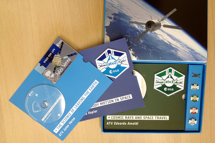 Mementos on Europe's Last Space Freighter Honor Scientist Namesakes