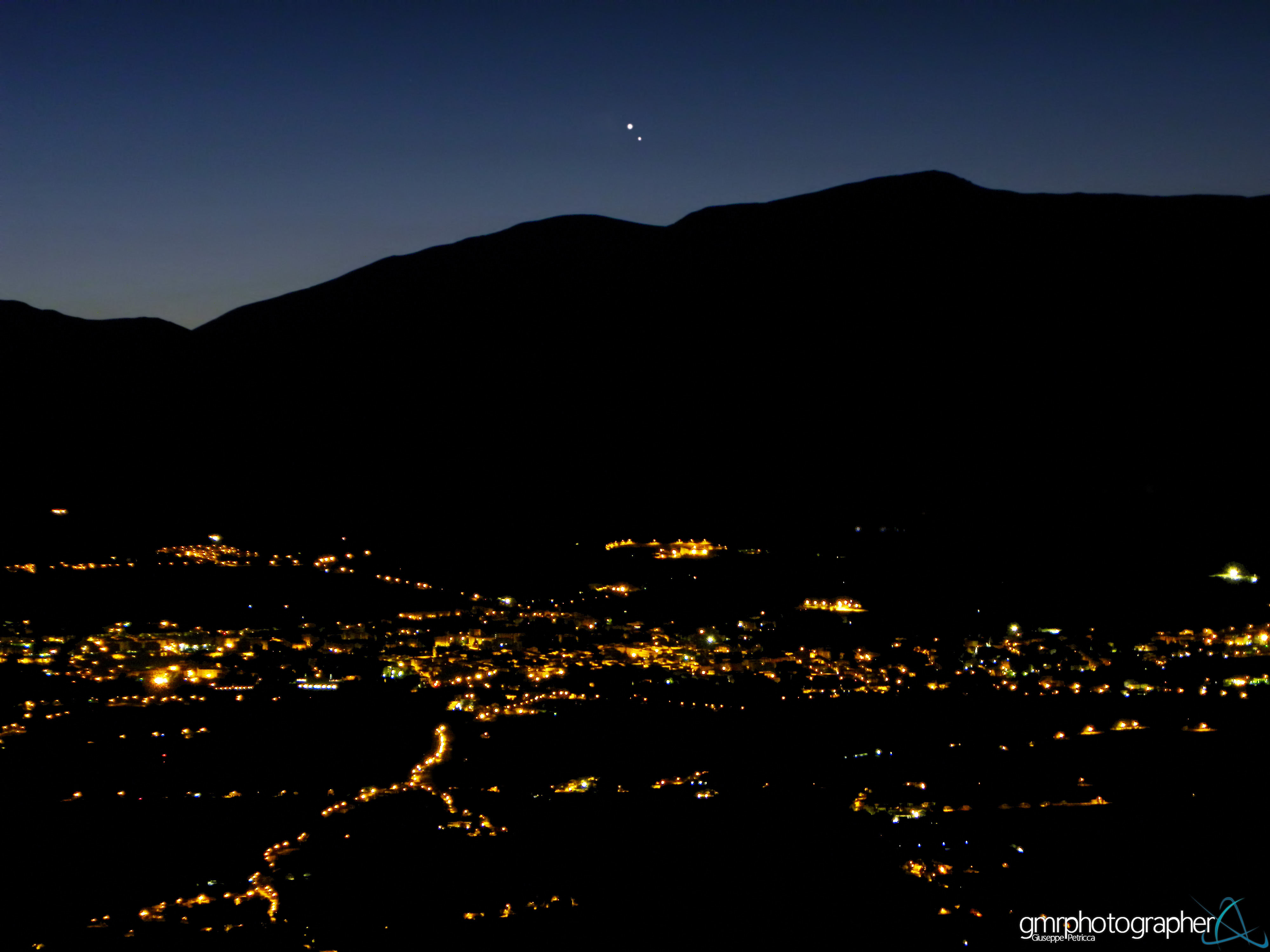 Jupiter and Venus from Italy