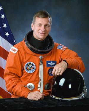 NASA portrait of STS-55 mission commander Steven Nagel.