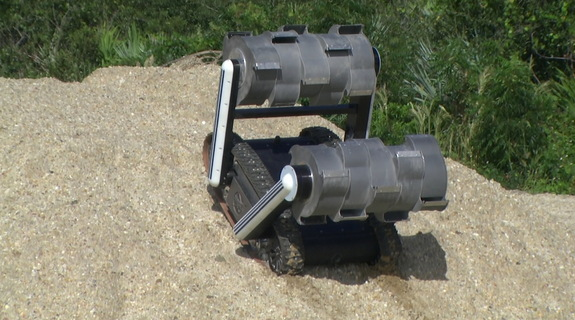 The RASSOR robot is programmed for digging and mining and will be incorporated into the swarmie test drives.