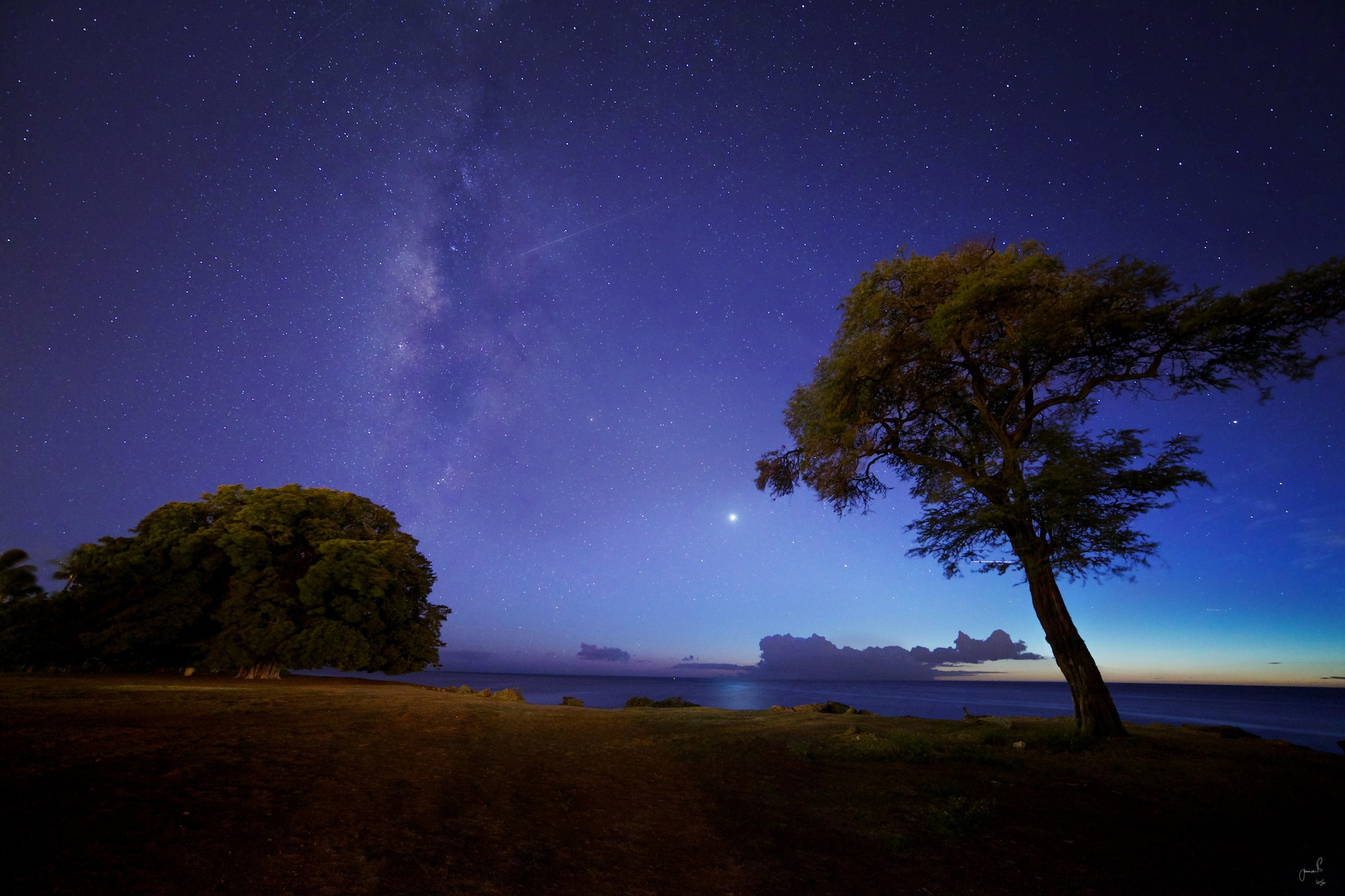 Night Sky Over Ko'Olina, Oahu, Hawaii.
