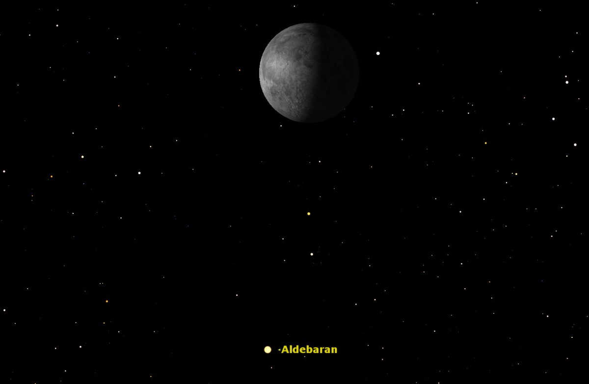 Aldebaran and the Moon, September 2014