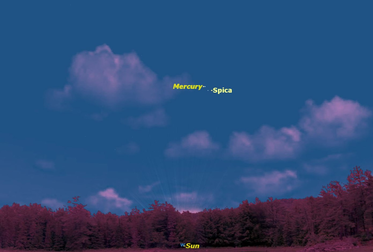 Mercury Close to Spica, September 2014